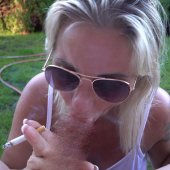 Nachbar Fremdgeblasen! Smoking Blowjob FaceCumshot!