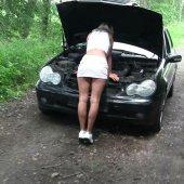 Autopanne! Fremder spritzt rein! Creampie